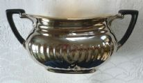 "Crown Devon (Fielding's Devon Ware) ""Georgian"" Silverine twin-handled sugar bowl"